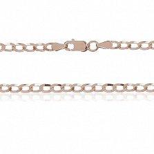 Серебряная цепочка Ариан с позолотой