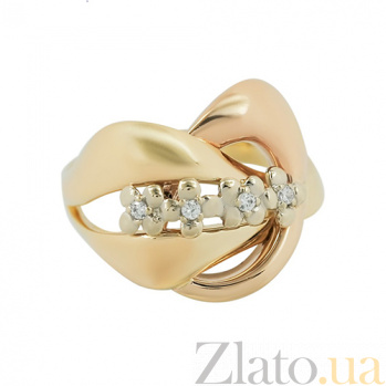 Золотое кольцо с фианитами Флорин  2К909-0014