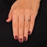 Кольцо из красного золота с бриллиантом  Изысканность