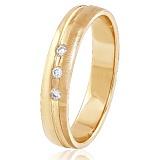 Золотое обручальное кольцо Дама сердца