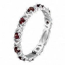 Кольцо в белом золоте Констанция с рубином