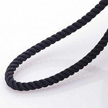 Шелковый шнурок Ивис с серебряной застежкой, 3мм