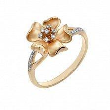 Кольцо Пелагея из желтого золота с бриллиантами