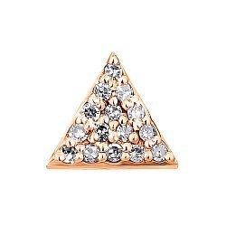 Кулон из красного золота с бриллиантами 000117259