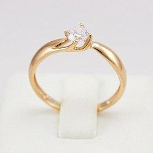 Кольцо из красного золота с фианитом Нина