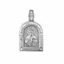 Серебряная ладанка с фианитами Небесный заступник