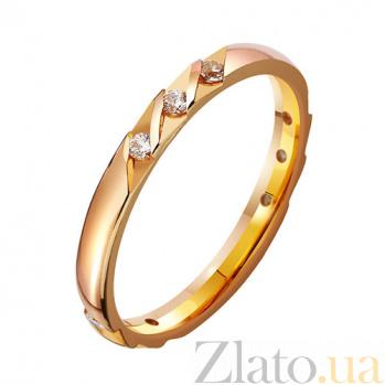 Золотое обручальное кольцо с фианитами Наяда TRF--412895