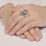 Серебряное кольцо Поцелуй шаров