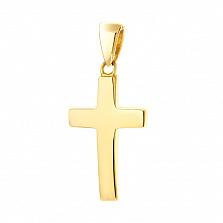 Минималистичный крестик Символ в желтом золоте