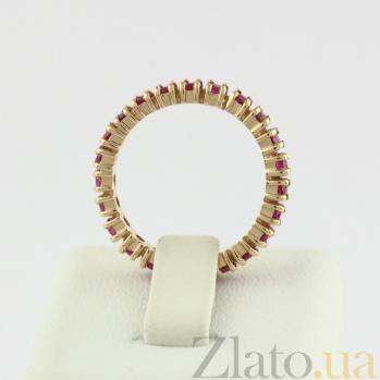 Кольцо из красного золота с рубинами Феерверк VLN--122-1544-13