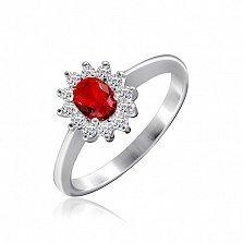 Серебряное кольцо Руфина с фианитами