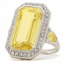 Кольцо Ashkenazi с желтым бериллом