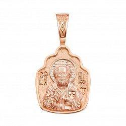 Ладанка из красного золота Святой Николай 000132843