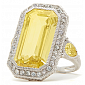 Кольцо Ashkenazi с желтым бериллом R-JR-W-d36/brg3