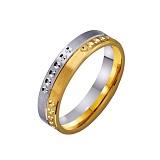 Золотое обручальное кольцо Благородство в комбинированном цвете металла
