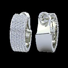 Золотые серьги Триумф с бриллиантами