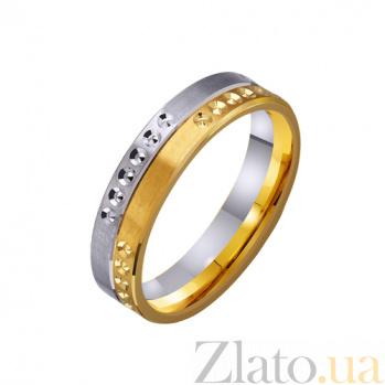 Золотое обручальное кольцо Благородство в комбинированном цвете металла TRF--451713