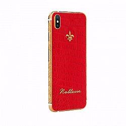 Apple IPhone XS MAX Noblesse Palatial Red в красной коже, золоте и бриллиантами