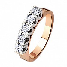 Обручальное кольцо с бриллиантами Симфония любви