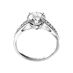 Золотое кольцо с аквамарином и бриллиантами Венец