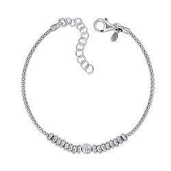 Серебряный браслет с цирконием 000146677