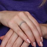 Золотое кольцо Каролина в белом цвете с бриллиантами