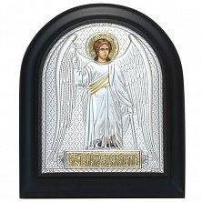 Икона на деревянной основе Архангел Михаил с позолотой и эмалью, 11х13