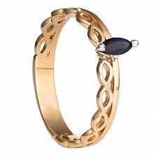 Золотое кольцо Каир с сапфиром