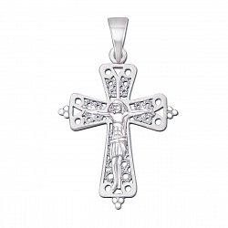 Крестик из белого золота 000129367