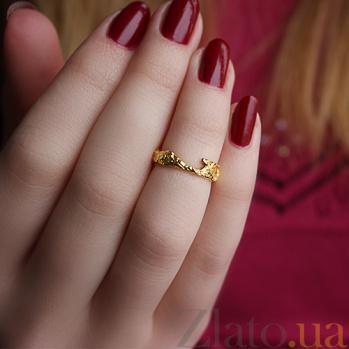 Серебряное кольцо в позолоте Астарта АНТ 003а з