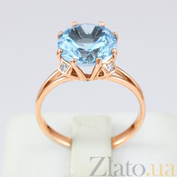 Золотое кольцо с топазом и фианитами Эсфира VLN--112-026-1