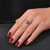 Золотое кольцо с топазом и фианитами Флоринда