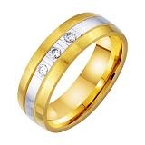 Золотое обручальное кольцо Волшебное чувство с фианитами