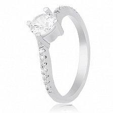 Кольцо из серебра Элизетти с фианитами