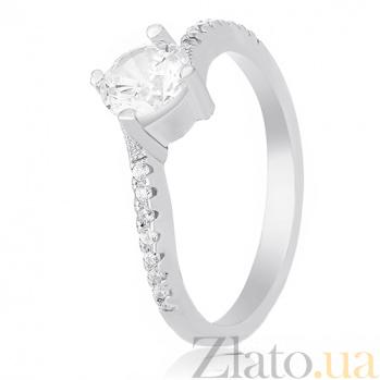 Кольцо из серебра Элизетти с фианитами 000030931