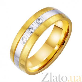 Золотое обручальное кольцо Волшебное чувство с фианитами TRF--4521757