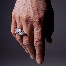 Кольцо из серебра Claw с чернением