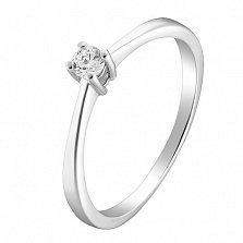 Помолвочное серебряное кольцо Соната с фианитом