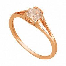 Золотое кольцо с фианитом Влюбленность