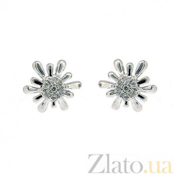 Золотые серьги с бриллиантами Анелия ZMX--ED-6597w_K