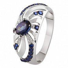 Золотое кольцо с сапфирами и бриллиантами Герцогиня