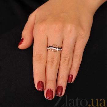 Золотое кольцо Касильда с черными и белыми фианитами EDM--КД2023Ч