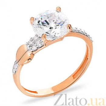 Кольцо из красного золота Безграничная любовь SUF--153155