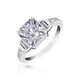 Серебряное кольцо с фианитами Энджи