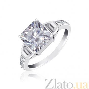 Серебряное кольцо Будапешт с прозрачными фианитами 000025511