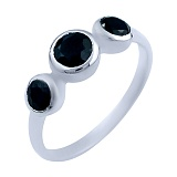 Серебряное кольцо Амрит с сапфирами