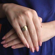 Серебряное кольцо с позолотой и чернением Кандинский