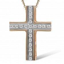 Крестик из желтого золота Воспоминания с бриллиантами