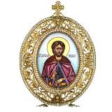 Серебряная икона с образом Святого Благоверного князя Александра Невского