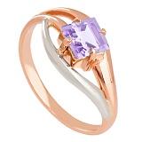 Золотое кольцо с аметистом Жанна